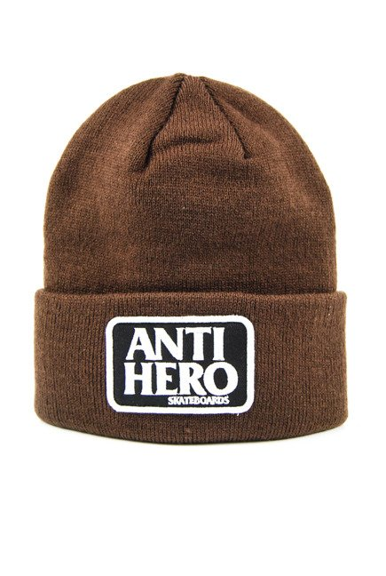 Czapka Anti Hero -Beanie Rsrve Pth Cuff Brown 2