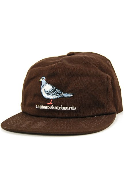 Czapka z daszkiem Antihero - Pigeon Embroidered 5 Panel Snapbak Brown