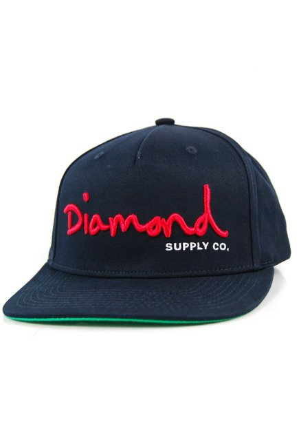 Czapka z daszkiem Diamond Supply Co. - Og Script Snapback Navy