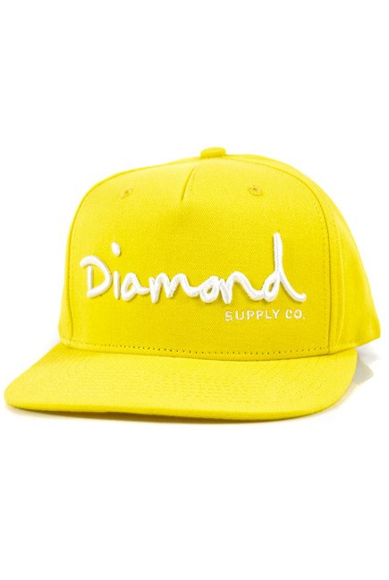 Czapka z daszkiem Diamond Supply Co. - Og Script Snapback Yellow