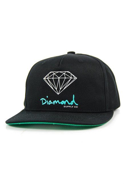 Czapka z daszkiem Diamond Supply Co. - Og Sing Snapback Black