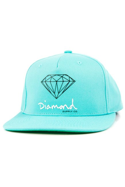 Czapka z daszkiem Diamond Supply Co. - Og Sing Snapback Diamond Blue
