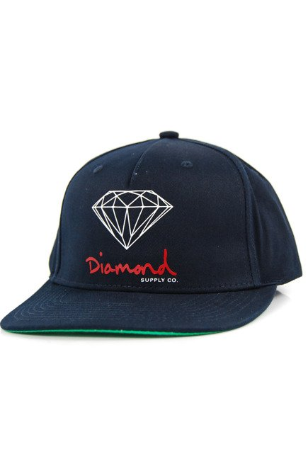 Czapka z daszkiem Diamond Supply Co. - Og Sing Snapback Navy